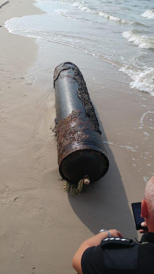 W pobliżu Łeby znaleziona została powojenna torpeda.