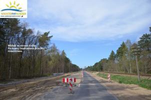 Trwa budowa drogi do Łeby.