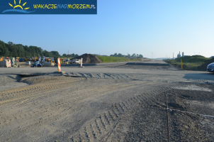 Półmetek budowy S6 - odcinek Ustronie -  Koszalin.